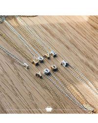 Orelia | Metallic Necklace Initial L | Lyst