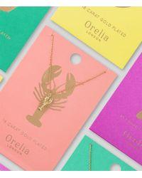 Orelia - Metallic Lobster Ditsy Necklace - Lyst