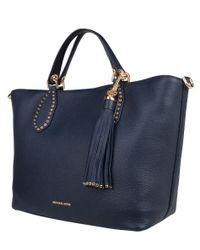 Michael Kors - Blue Brooklyn Large Grab Bag - Lyst