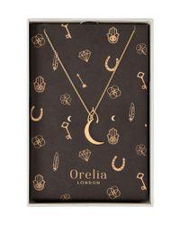 Orelia - Metallic Brushed Moon Giftbox - Lyst