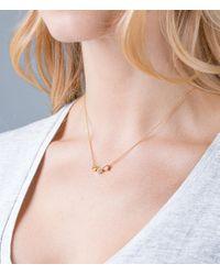 Orelia - Metallic Three Little Hearts Necklace - Lyst