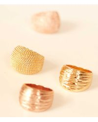 Jewellery by LouLou Metallic Elegance Plated Ring