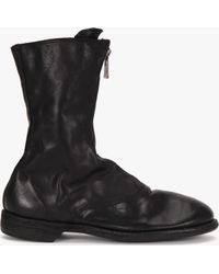 Guidi | Black Front Zip Army Boots | Lyst