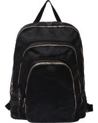 Guidi   Black Soft Horse Full Grain Medium Zipped Backpack for Men   Lyst