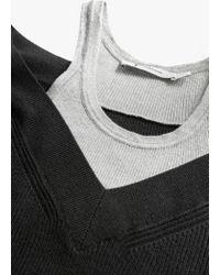 T By Alexander Wang - Black Pullover Dress W/ Inner Cotton Tank - Lyst