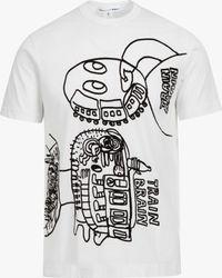 Comme des Garçons | White Print T-shirt for Men | Lyst