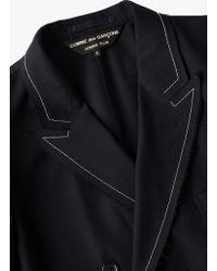 Comme des Garçons - Blue Contrast Stitch Double Breast Blazer Coat for Men - Lyst