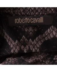 Roberto Cavalli Multicolor Animal Print Gathered Long Sleeve Dress S