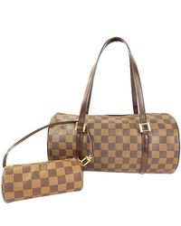 1cb2bf1a4509 Lyst - Louis Vuitton Damier Ebene Canvas Papillon 30 Bag in Brown