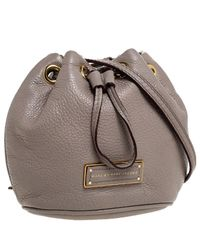Marc By Marc Jacobs Light Brown Leather Mini Too Hot To Handle Drawstring Bucket Crossbody Bag