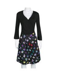 Diane von Furstenberg Black Short Dress