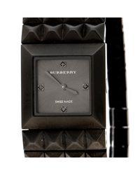 Burberry - Black Gauntlet Pyramid Flex Bracelet Women's Wristwatch 20mm - Lyst