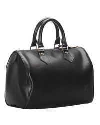 Louis Vuitton Black Epi Leather Speedy 25 Bag