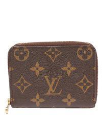 Louis Vuitton Brown Monogram Canvas Zippy Wallet
