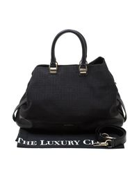 Givenchy Natural Black Monogram Canvas And Leather Satchel