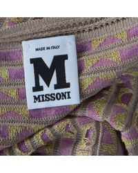 M Missoni Multicolor Geometric Motif Knit Fit And Flare Dress S