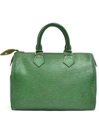 Louis Vuitton Green Epi Leather Speedy 25