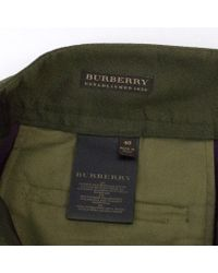 Burberry - Green Olive Tailored Trousers S - Lyst