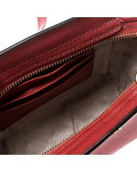 Michael Kors - Red Saffiano Leather Mini Selma Crossbody Bag - Lyst
