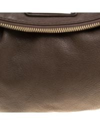 Marc By Marc Jacobs Natural Dark Beige Leather Classic Q Natasha Crossbody Bag