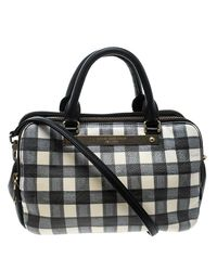 Marc By Marc Jacobs - Black /white Check Leather Satchel - Lyst
