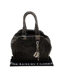 Gianfranco Ferré Gray Grey Leather Satchel