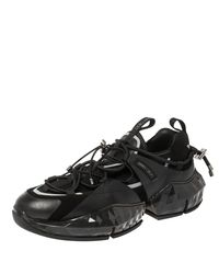 Jimmy Choo Black Leather/suede And Mesh Diamond Trial Sneakers for men