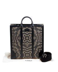 Gucci Black Beige/ Gg Supreme Canvas And Leather Caleido Tote
