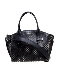 Alexander McQueen Black Leather Studded Legend Satchel
