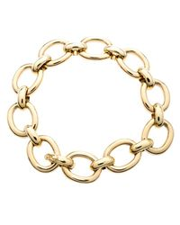 Cartier Metallic 18k Yellow Gold Oval Link Chunky Bracelet
