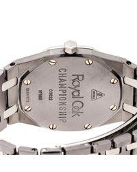 Dior Gray Grey Tantalum Stainless Steel Diamond Royal Oak Championship 56175tt.o.0789tt.01 Women's Wristwatch 33 Mm