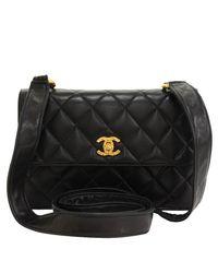fb0c07ef6c4db3 Lyst - Chanel Quilted Lambskin Flap Shoulder Bag in Black