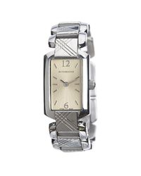 Burberry Multicolor Silver Stainless Steel Signature Bu4212 Women's Wristwatch 18mm