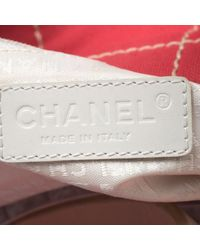 Chanel Red Chocolate Bar Canvas No. 5