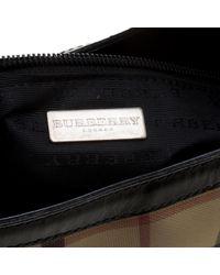 Burberry - Natural House Check Pvc Shoulder Bag - Lyst