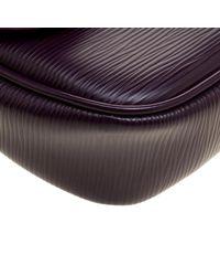 Louis Vuitton Purple Cassis Epi Leather Montaigne Clutch Bag