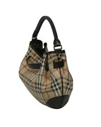 Burberry - Black Haymarket Check Coated Canvas And Leather Shoulder Bag - Lyst