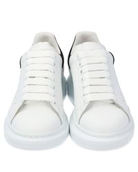 Alexander McQueen White Ivory/black Leather Oversized Sneakers