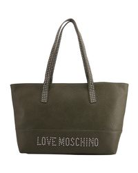 Raymond Weil Love Moschino Brown Pebbled Synthetic Leather Tote