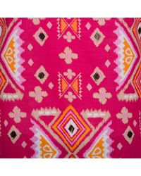 Tory Burch Pink Printed Cotton Embellished Long Sleeve Top S