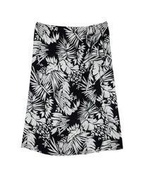 Max Mara Black Barbano Print Skirt L