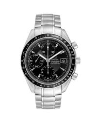Omega Black Stainless Steel Speedmaster Chronograph 3210.50.00 Men