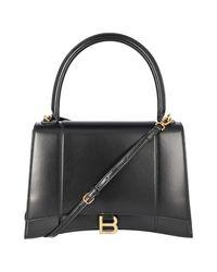 Balenciaga Black Small Leather Hourglass Bag
