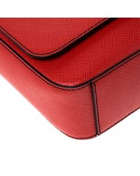 Michael Kors Red Ruby Saffiano Leather Harrison Messenger Bag for men