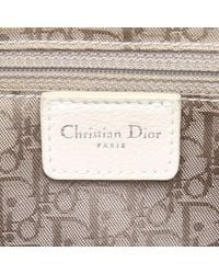 Dior White Cannage Leather Tote Bag