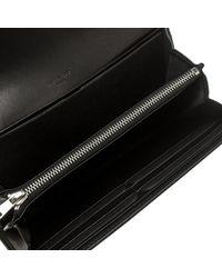 Givenchy - Black Leather Pandora Long Flap Wallet - Lyst