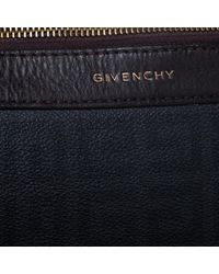 Givenchy Black/dark Brown Monogram Coated Canvas And Leather Hobo