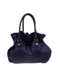 Marc By Marc Jacobs Purple Leather Classic Q Drawstring Hobo