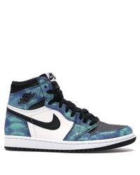 Nike Blue Nike 1 High Tie Dye Sneakers