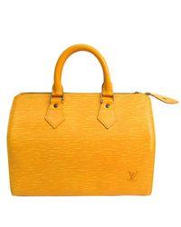 Louis Vuitton Yellow Jaune Epi Leather Speedy 25 Bag